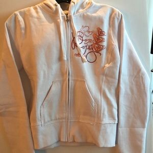 Roxy White Embroidered Hoodie